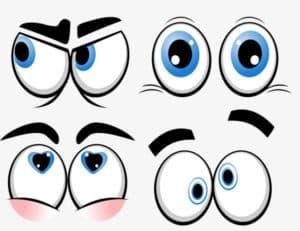 разные глаза трафарет