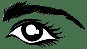 трафарет левый глаз