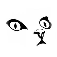 глаза кота трафарет