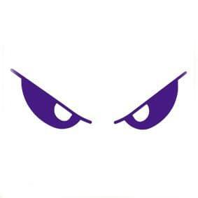 фиолетовые глаза трафарет