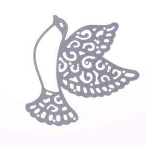 голубь с узорами трафарет