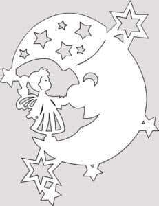 трафарет луна
