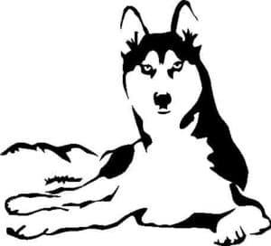 трафарет собака