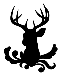 голова оленя трафарет