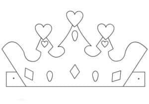 корона с сердцами и ромбами