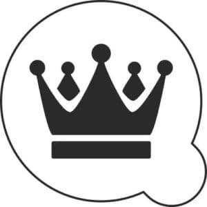 шаблон трафарет короны для вырезания