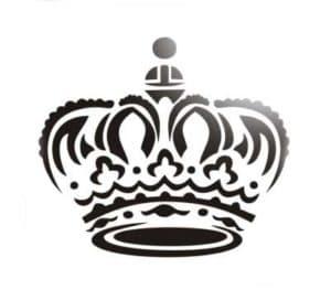 корона трафарет для вырезания