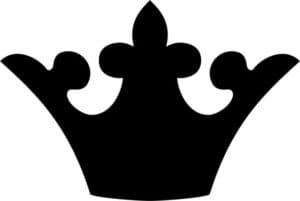 корона черная для вырезания