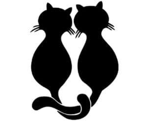 коты трафарет