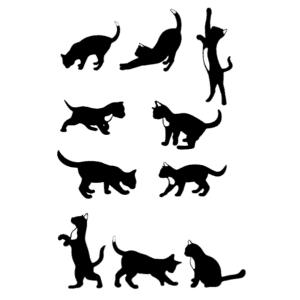 коты трафареты и шаблоны