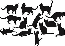 кошки шаблон для вырезания