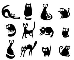 кошки трафарет