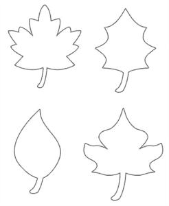 листья трафарет для вырезания