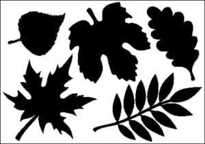 черные листья для вырезания