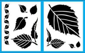 листья трафареты и шаблоны
