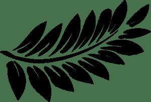 веточка с листьями трафарет