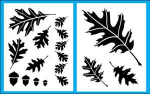 трафарет листьев для детей
