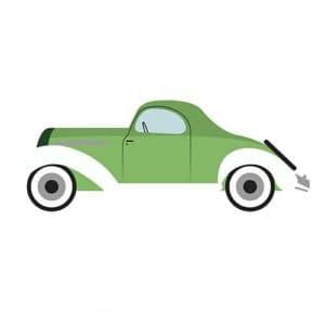 зеленая машинка трафарет