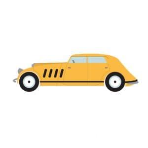 желтая машинка трафарет