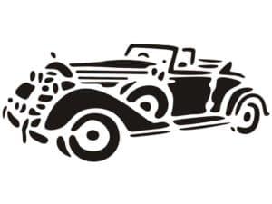 ретро автомобиль раскраска