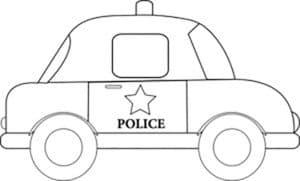 полиция машина трафарет
