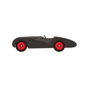 маленькая машина трафарет