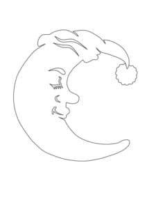 луна трафарет