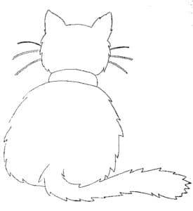 кошка трафарет для окна