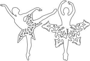 балерины трафарет