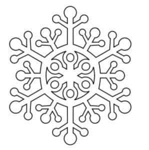 снежинка трафарет