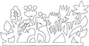 цветы трафарет