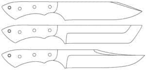 трафарет охотничьих ножей
