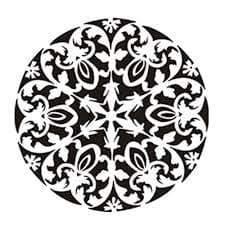 трафарет круглого орнамента с узорами
