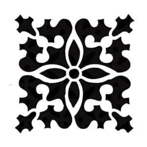 квадратный орнамент с красивыми узорами