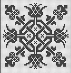 орнамент с цветами шаблон