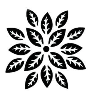 трафарет орнамент лепестков