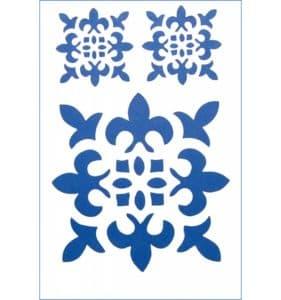 синий трафарет орнамент