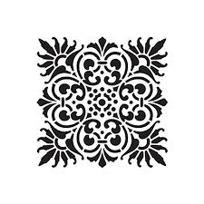 трафарет квадратного орнамента