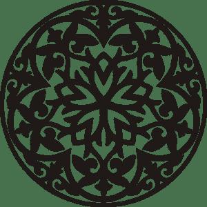 трафарет круглого орнамента