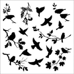 много птиц для вырезания