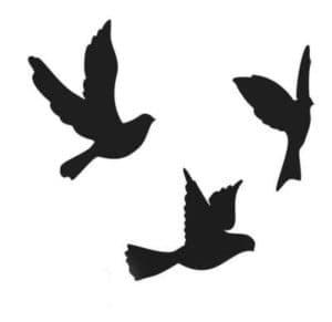 голуби трафарет для вырезания