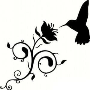 трафарет колибри
