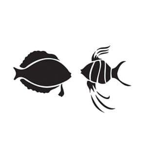 трафарет рыбки