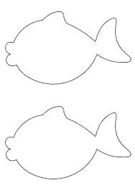две рыбки трафарет для вырезания