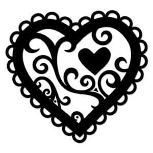 сердечко раскраска - трафарет