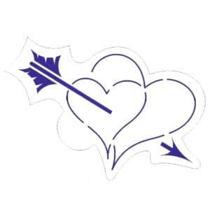 сердце и стрела для вырезания