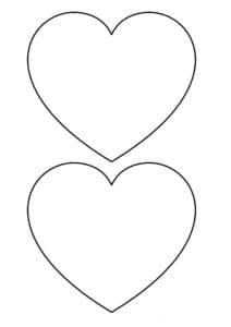 два сердца для вырезания