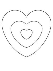 мишень из сердец