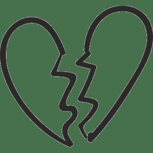 разбитое сердце трафарет