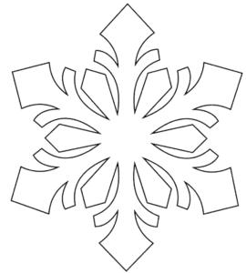 трафарет снежинка